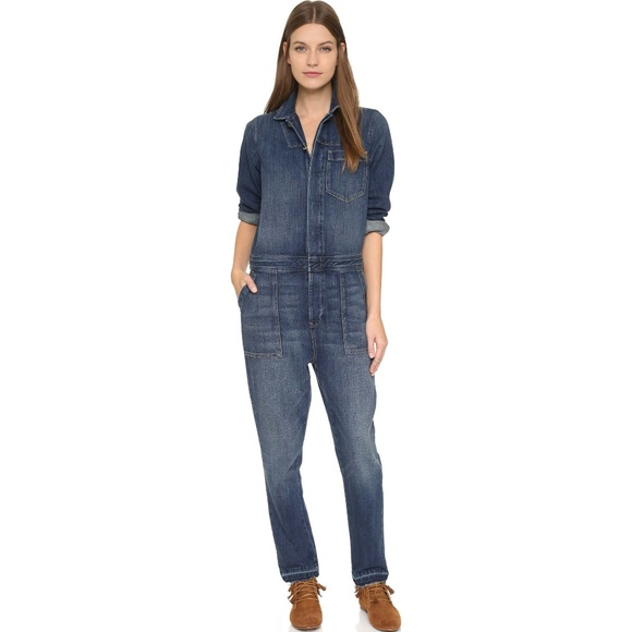 4f43d9c4447f Current Elliott 1 S Basic Jailbird Jumpsuit Denim.  M 5ada673e9a9455d0165d8e79